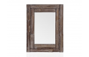 RUSTIC WOOD RECTANGLE MIRROR