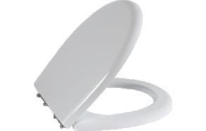 KC (SEDEF) aeglaselt sulguv (soft close) WC iste, metall-hinged, valge