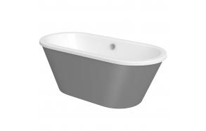 """akrüülvann Savoy, 170x75 cm, vanni paneel """"steel"""" viimistlus"""
