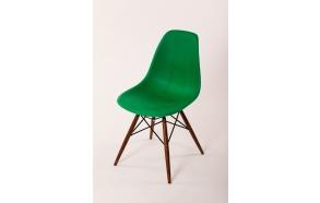 chair Alexis, green 12, light brown feet