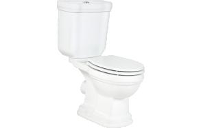 RETRO (KLASIK) DUAL FLUSH WC COMPACT, P-TRAP, WHITE