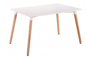 dining table Nordic 2, white/beech 120x80 cm