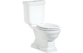 RETRO (KLASIK) DUAL FLUSH WC COMPACT, S-TRAP, WHITE