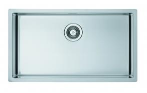 kandiline köögivalamu QUADRIX 60 tööpinnale või tööpinna alla, 79.5x45 cm h 20 cm, roostevaba satiin. Sifoon 3 1/2´´ ei kuulu komplekti.