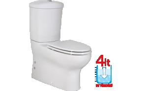 MERCAN WC kompakt, 2-süsteemne, universaalne trapp ilma istmeta