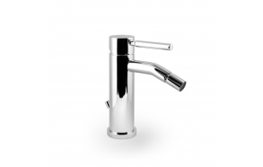 single lever bidet mixer Form A with pop up waste