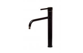 high basin mixer Form A with swivel spout, mat black