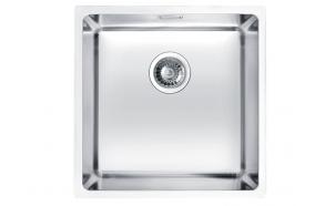 roostevaba köögivalamu tööpinna alla KOMBINO 30, 40x40x19,5 cm, äravool 3 1/2´´, satiin viimistlus. Komplektis ümar põhjaklapp.