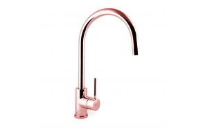 kitchen mixer Form A with movable spout, pink gold finish