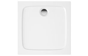 76X76 stone shower tray, white