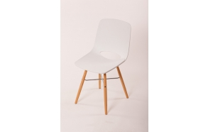 chair Wasowsky white, beech feet