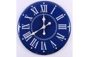 blue vintage wall clock