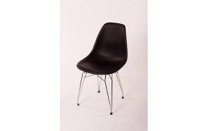 "chair Alexis, black, chromed metal ""Y"" feet"