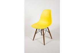 chair Alexis, yellow, light brown feet
