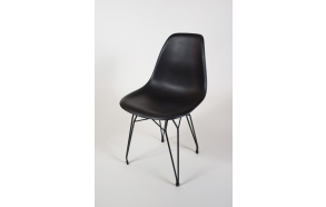 """chair Alexis, black, black metal """"Y"""" feet"""