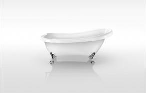 retro bathtub Susanna, no overflow, chromed feet F2, plastic drain included D3