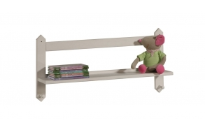 Shelf with hangers, beige