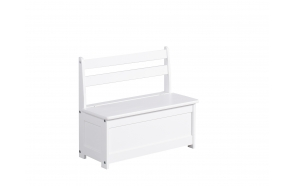 Children's bench-Toy box, white