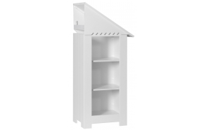 Marseilles - add-on bookcase, white