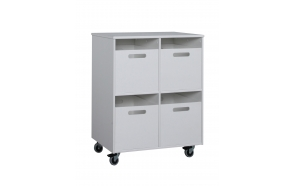 Mini - shelves with 2 boxes and table, white