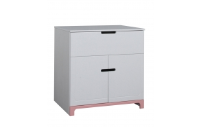 Mini - 2-door chest, white+pink