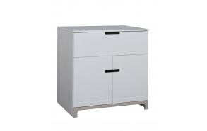 Mini - 2-door chest, white+grey