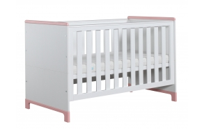 Mini - cot-bed 140x70, white+pink