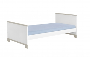 voodi, 200x90, valge+hall
