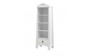 Parole – bookcase, white+brown