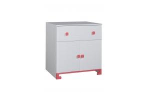 ToTo - 2-door chest,white+pink