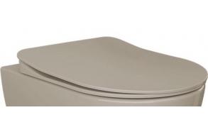 aeglaselt sulguv (soft close) WC iste, matt cappucino, mudelid FE320, FE321