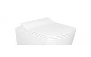 aeglaselt sulguv (soft close) WC iste Elegant, valge