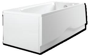 acrylic bathtub 170x75 cm, SONATA, on frame, with long side panel