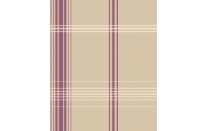 Accents CheckAubergine/Green