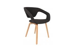 käetugedega tool Flexback, natural/tumehall
