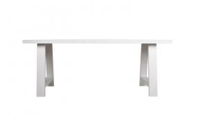 söögilaud A-Framed, valge, 180x85 cm