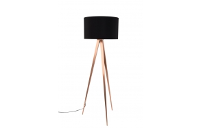 Floor Lamp Tripod Copper Black