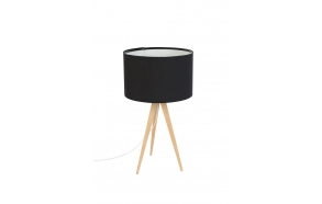 Table Lamp Tripod Wood Black