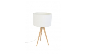 Table Lamp Tripod Wood White