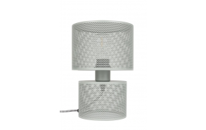 Table Lamp Grid Grey