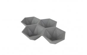 Tray Hexagon Grey