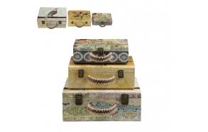 puidust kohver/hoiukarp ,erineva suurusega