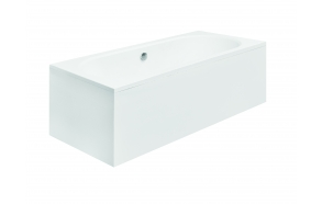 acrylic bath Vita, 170x75 cm, drain in the middle +feet+long side panel