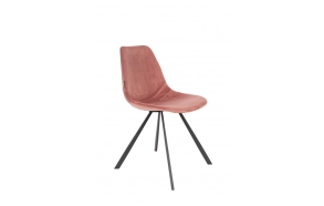 Chair Franky Velvet Old Pink