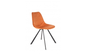 Chair Franky Velvet Orange