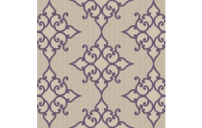 Decadence Crepe Moroccan Medallion Purple