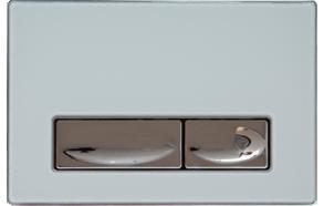 CREAVIT DESIGN seinasisese raami loputusnupp, valge (METALL+KLAAS)
