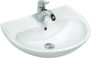 NEW 40*50 CM OVAL W.BASIN - 2 WITH HOLE WHITE
