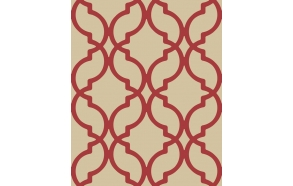 Decadence Moroccan Trellis Red