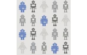 Hoopla Robots SidewallBlue